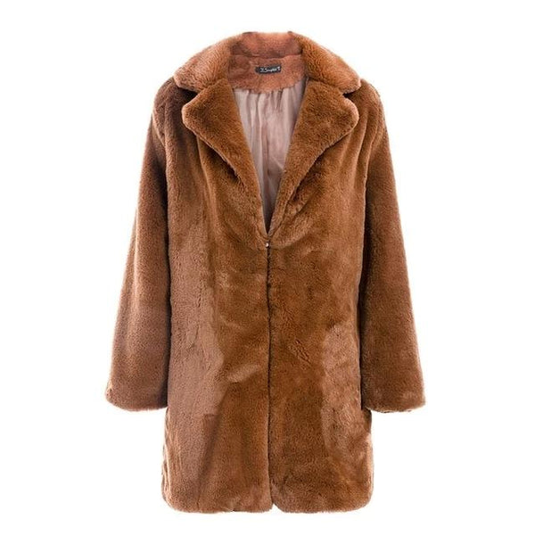 Amara - Plush Faux Fur Coat
