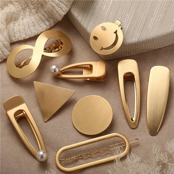 Eustance - Metal Snap Hair Clips