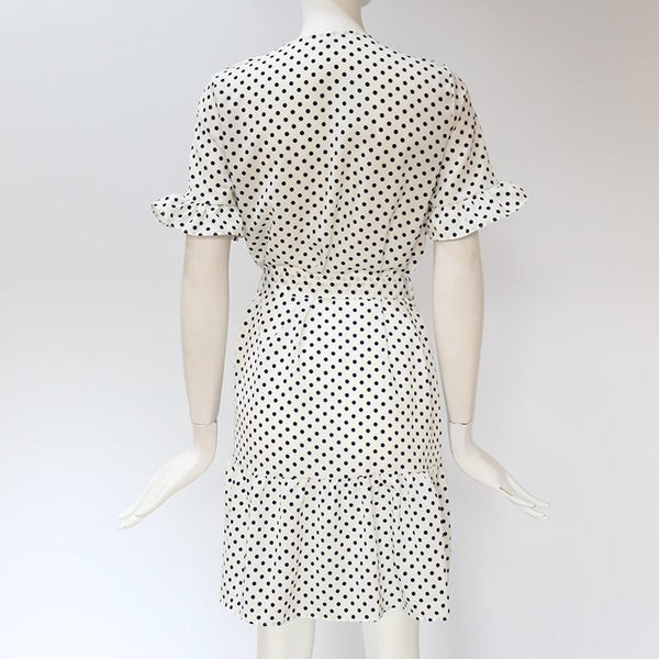 Diara - Short Sleeve Polka Dot Dress