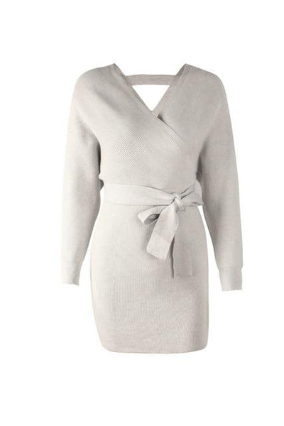 Calida - Wrap Long Sleeve Knitted Dress