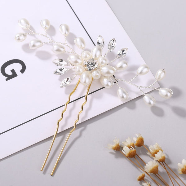 Evelyn - Pearl Beaded Hair Pin