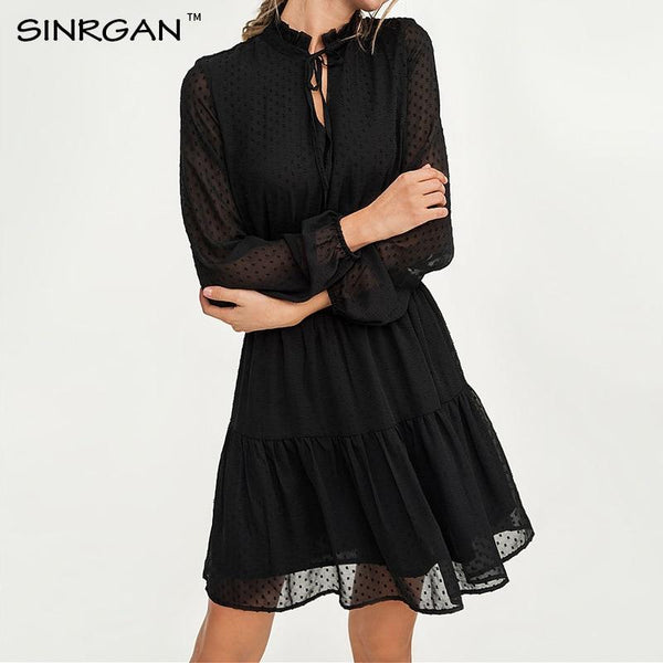 Bai - Chiffon Long Sleeve Dress