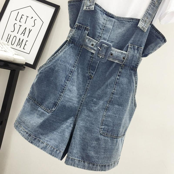 Savannah - Short Denim Overalls