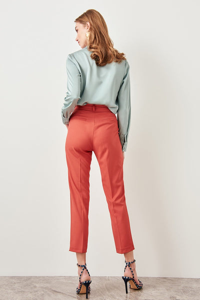Afia - Classic High Waist Straight Leg Pants
