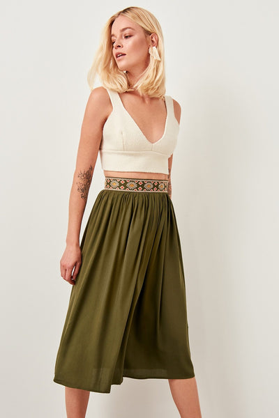 Talon - High Waist Boho Belt Skirt