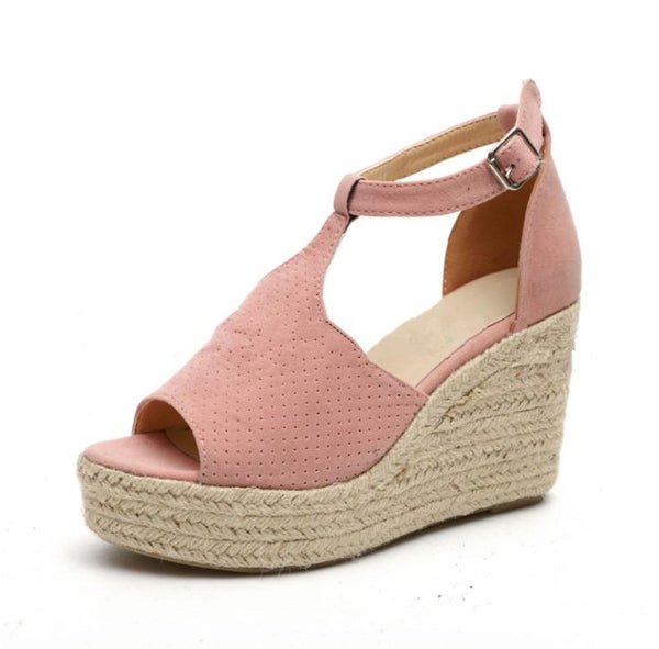 Prisha - Peep Toe Wedges