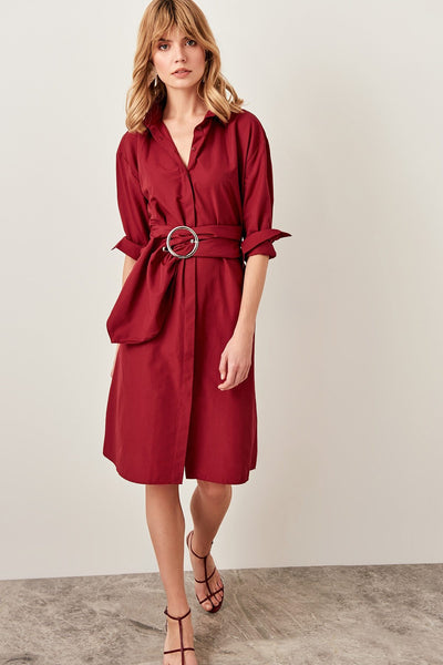 Bonnie - Waist Belt Shirt Dress