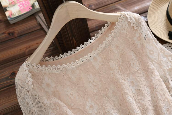 Adelaide - Lace Overlay A-Line Dress