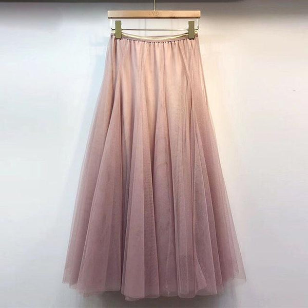 Bobbie - Three Layer Pleated Tulle Skirt