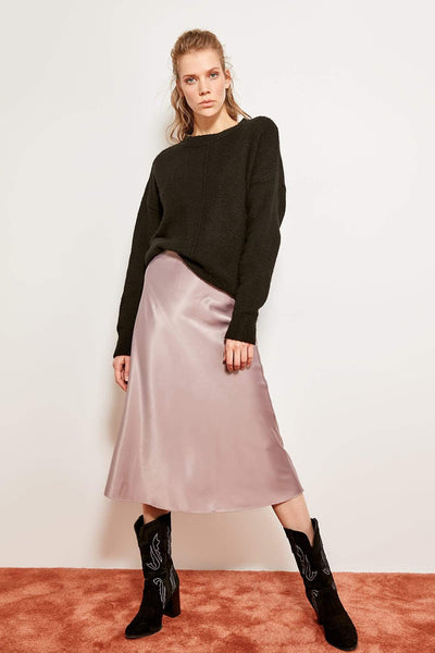 Millie - High Waist Satin Skirt