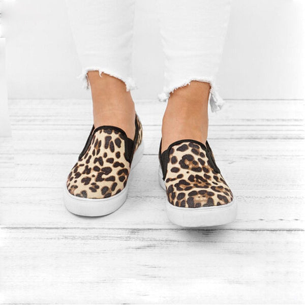 Libby - Leopard Print Loafers
