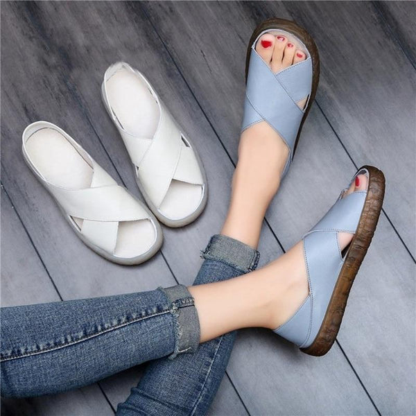 Katy - Slip On Peep Toe Sandals
