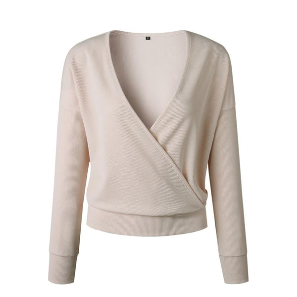 Jacoba - V-Neck Knitted Wrap Sweater