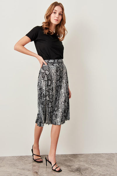 Sofia - Pleated High Waist Skirt