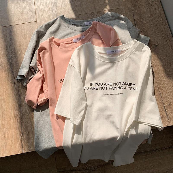 If You're Not Angry You're Not Paying Attention - Statement Tee