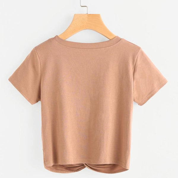 Cropped Knot Tees