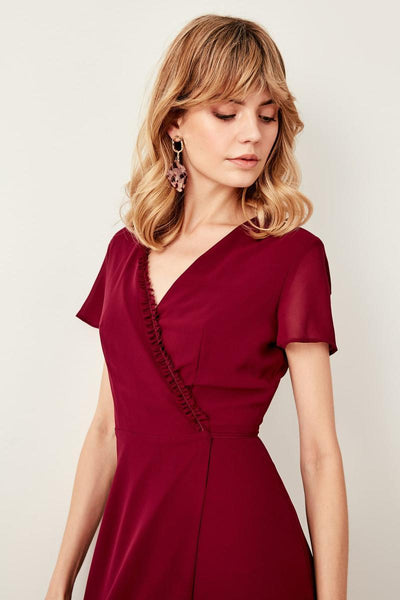 Alexus - Short Sleeve Wrap Dress