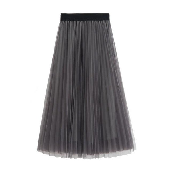 Soul - High Waist Belt Pleated Skirt