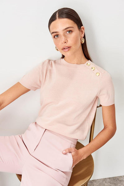 Felicity - Knitted Short Sleeve Sweater
