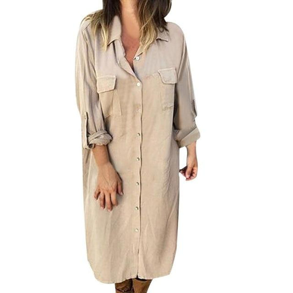 Ambrosine - Long Shirt Dress