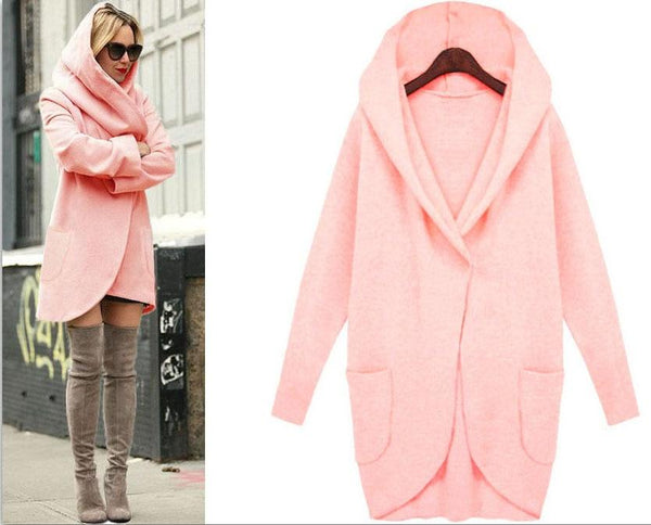 Arya - Hooded Asymmetric Oversize Coat