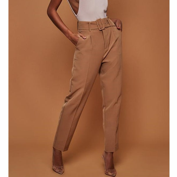 Abel - High Waist Belted Suit Pants
