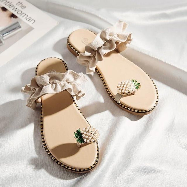 Pina - Pineapple Toe Ring Sandals