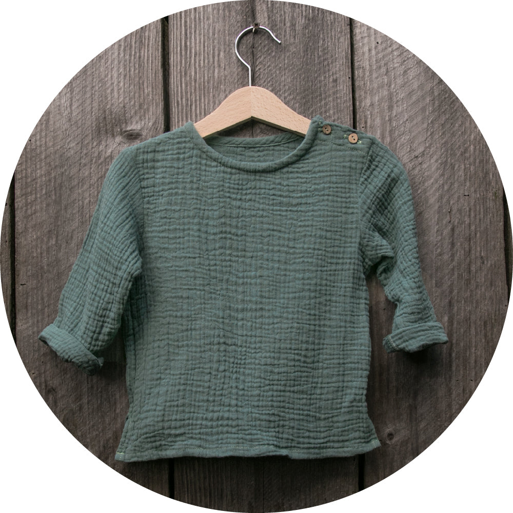 Long sleeve shirt in green