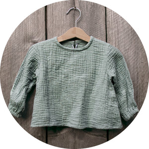 Girls blouse A in nile green
