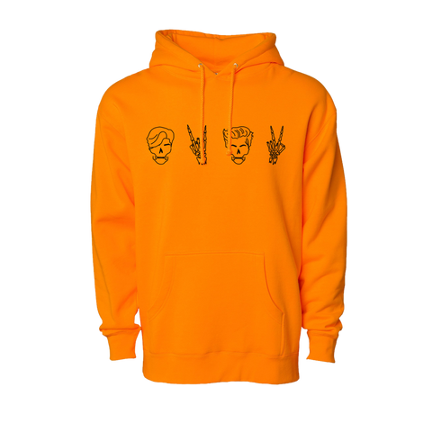 Twins Skull Hoodie (Orange)