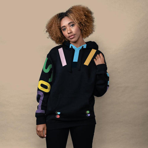 Spread Positivity Hoodie - Black (Multi)