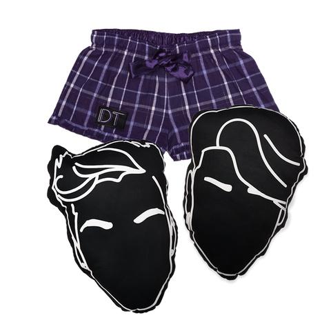 DT Pajama Shorts + Pillows Bundle
