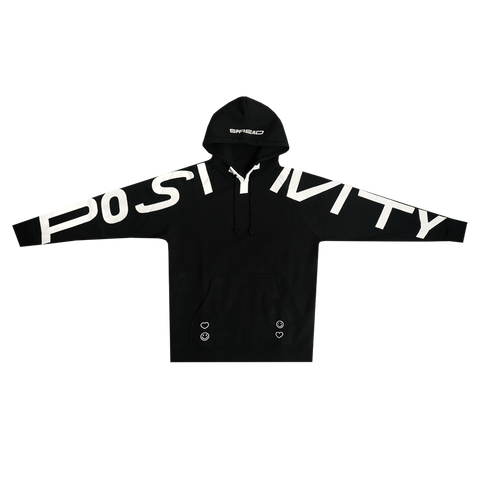 Spread Positivity Hoodie - Black (White)