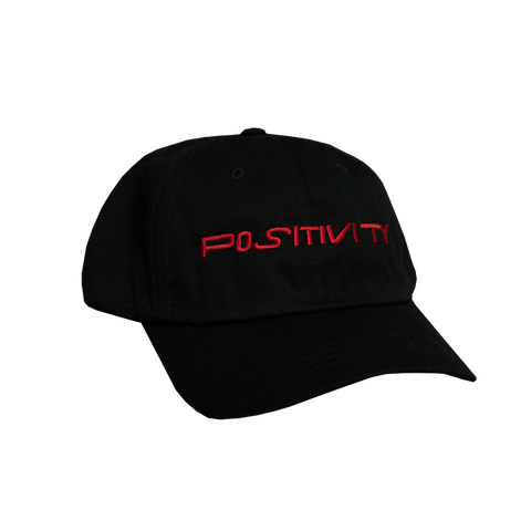 Positivity Hat - Black (Red)