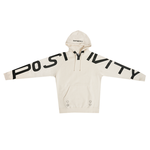 Spread Positivity Hoodie - Cream (Black)