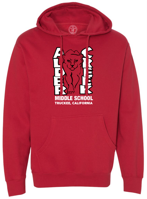 Alder Creek Logo Hoody-Red