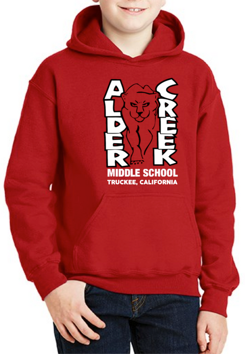 Youth Alder Creek Logo Hoody-Red