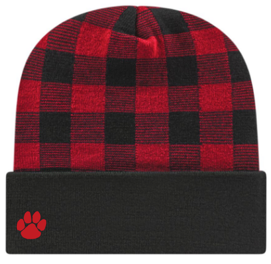 Alder Creek Knit Cap-Buffalo Check
