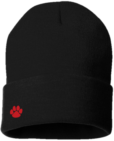 Alder Creek Cuffed Knit Cap-Black