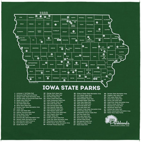 map of iowa state parks Accessories Twin Forks Trading Co map of iowa state parks