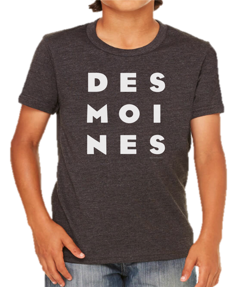 Kids DES MOINES Stack Tee