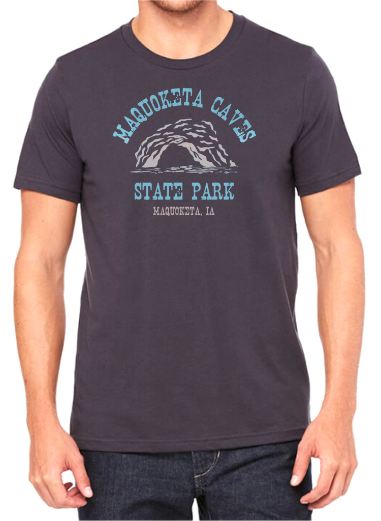 Maquoketa Caves State Park Tee-Metal Gray