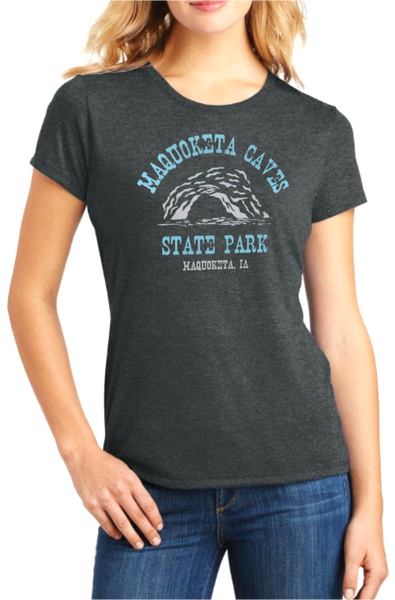 Women's Maquoketa Caves State Park Tee-Charcoal
