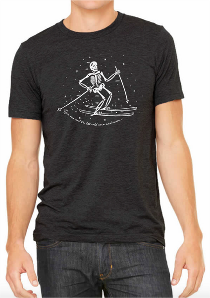 Skeleton Skier/Run Me Out Tee