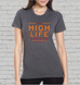 Women's High Life Lounge Tee-Charcoal