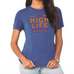 Women's High Life Lounge Tee-Blue Heather