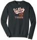 Valley Tigers Unisex 'Script' Crewneck Sweatshirt