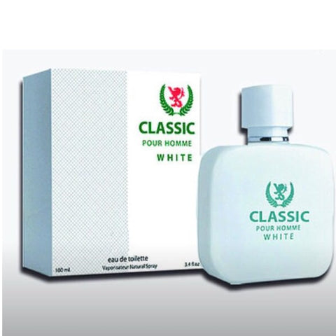 Fragancia Masculina Classic Pour Homme White