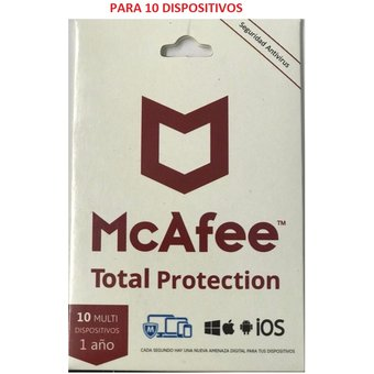 Antivirus Mc Afee para 10 dispositivos
