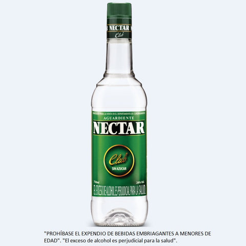AGUARDIENTE NECTAR CLUB SIN AZUCAR 750 ml